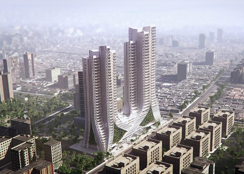 3XN breaks ground on Mumbai skyscrapers modelled on Indian plantli