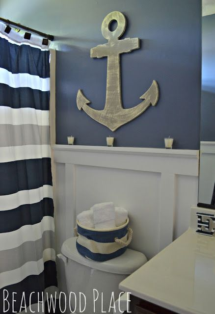 A Nautical Bathroom Retreat! | Nautical bathroom decor, Nautical .
