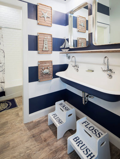 31 Nautical Coastal Beach Bathroom Decor Ideas | Sebring Design Bui