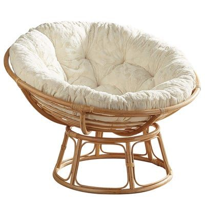 Papasan Chair Frame with Fuzzy Cushion (With images) | Papasan .