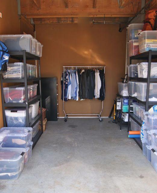 Organized Storage Unit | Storage unit organization, Garage storage .