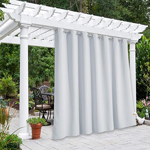 Amazon.com: NICETOWN Patio Outdoor Curtain Panel Waterproof Extra .