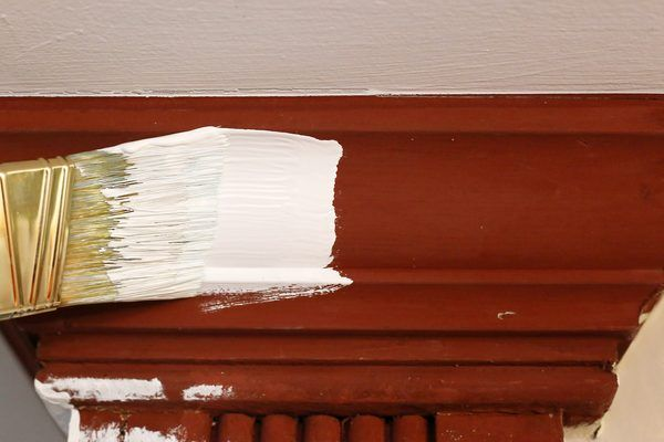 How to Paint Stained Wood Trim White | Painting wood trim, Paint .