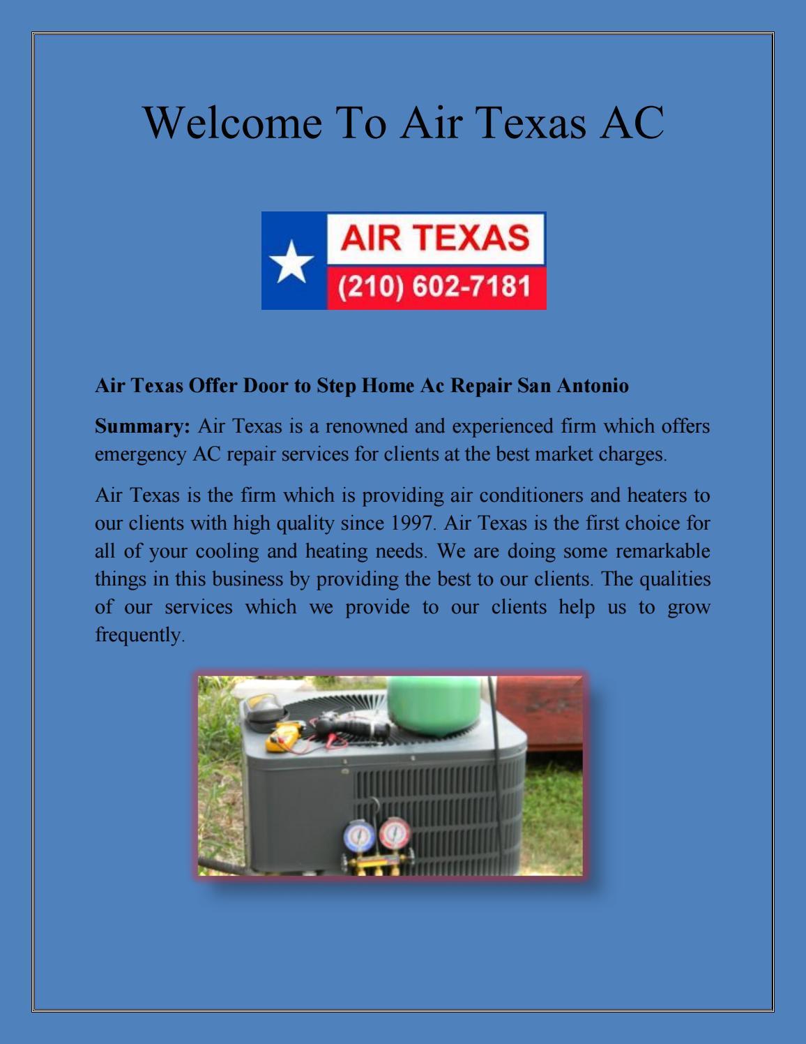 Features that make AC repair great in San   Antonio