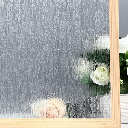 Amazon.com: VELIMAX Static Cling Rain Glass Window Film Removable .