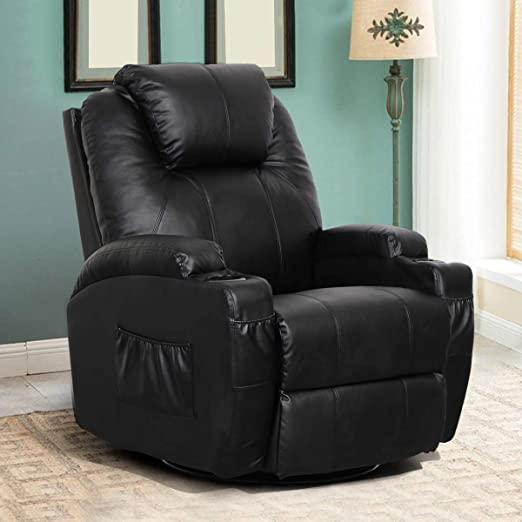 Amazon.com: Esright Massage Recliner Chair Heated PU Leather .