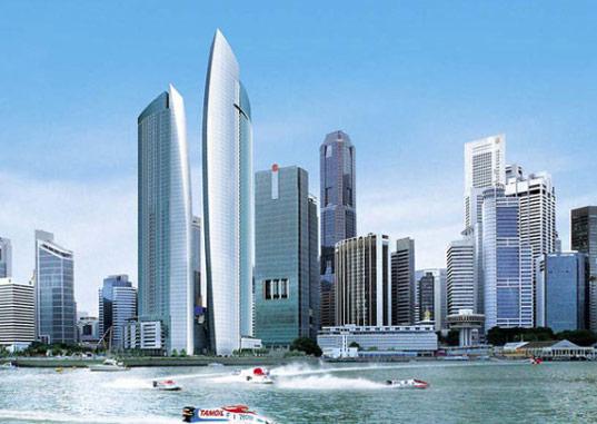 Singapore Unfurls A Sail-Shaped Green Skyscrap