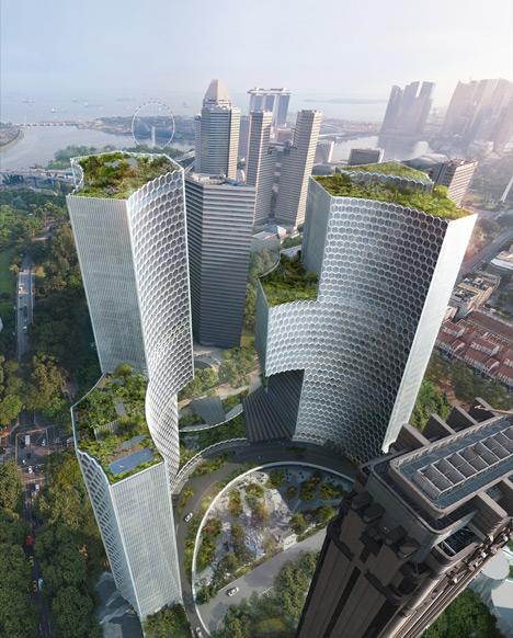 Ole Scheeren unveils DUO skyscrapers for Singapo