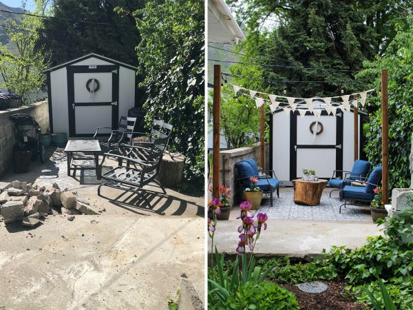 Before-and-after photos of stunning patio transformations - Insid