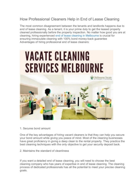 How Professional Cleaners Help in End of Lease Cleaning Pages 1 .