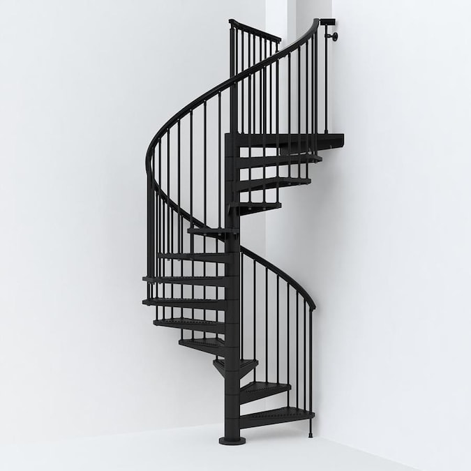 Arke Sky030 63-in x 10-ft Black Spiral Staircase Kit in the .