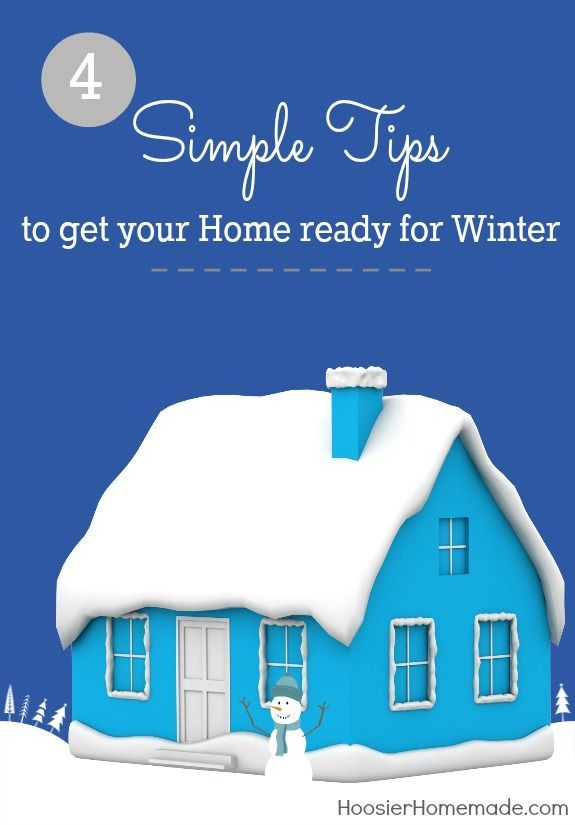 4 Simple Tips to get your home ready for Winter -- keep warm this .