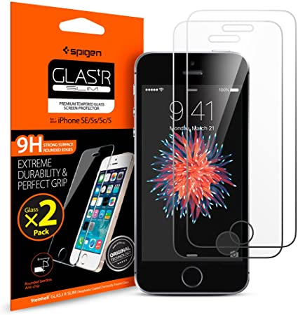 Amazon.com: Spigen Tempered Glass iPhone SE Screen Protector .