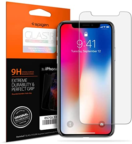 Amazon.com: Spigen Apple iPhone X Glas.tr Slim HD Premium Tempered .