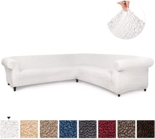 Amazon.com: Sectional Sofa Cover - Corner Couch Cover - Corner .