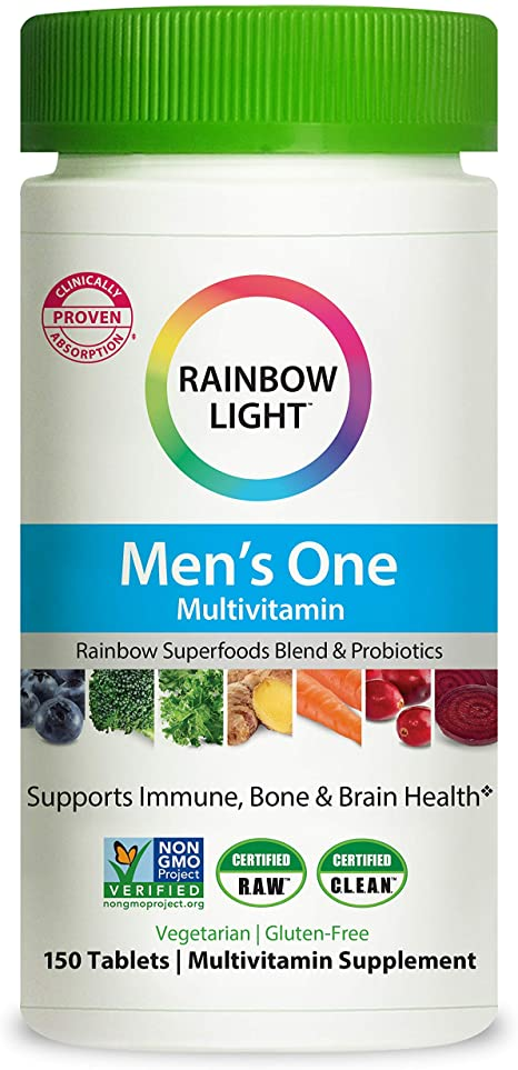 Amazon.com: Rainbow Light Men's One Multivitamin for Men, with .
