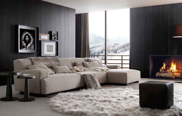 SOFAS - POLIFORM | SOHO | Sala de estar de casa, Interiores de .