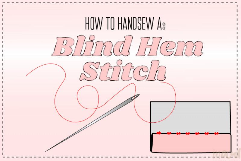 How To Handsew A Blind Hem Stitch - Mood Sewcie