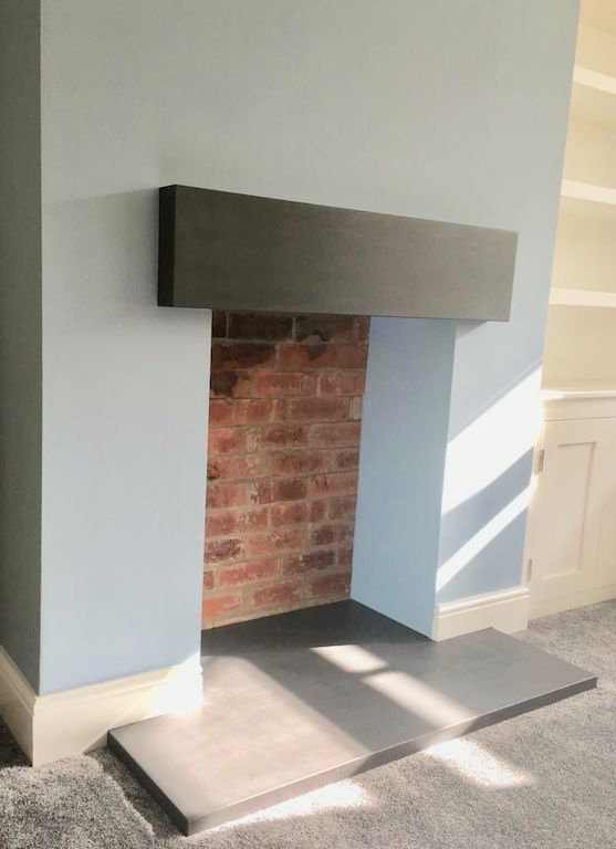 Polished Concrete Hearth and Mantel in 2020 | Polished concrete .