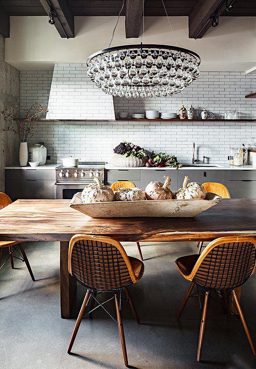 Room Crush: Industrial Glam Kitchen | Modern kitchen design .