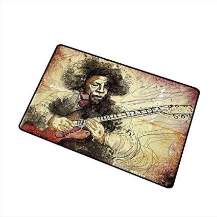 Amazon.com : Axbkl Door mat Customization Jazz Music Guitar .