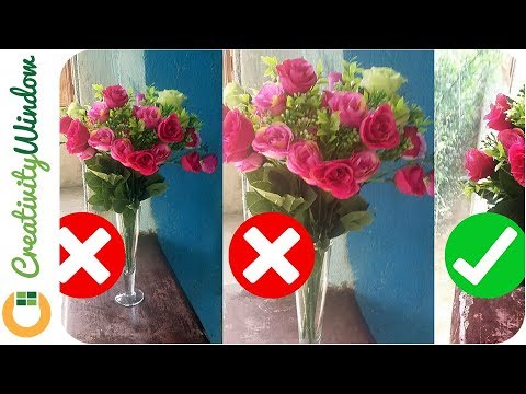 How to Make Plastic Flowers More Presentable - YouTu