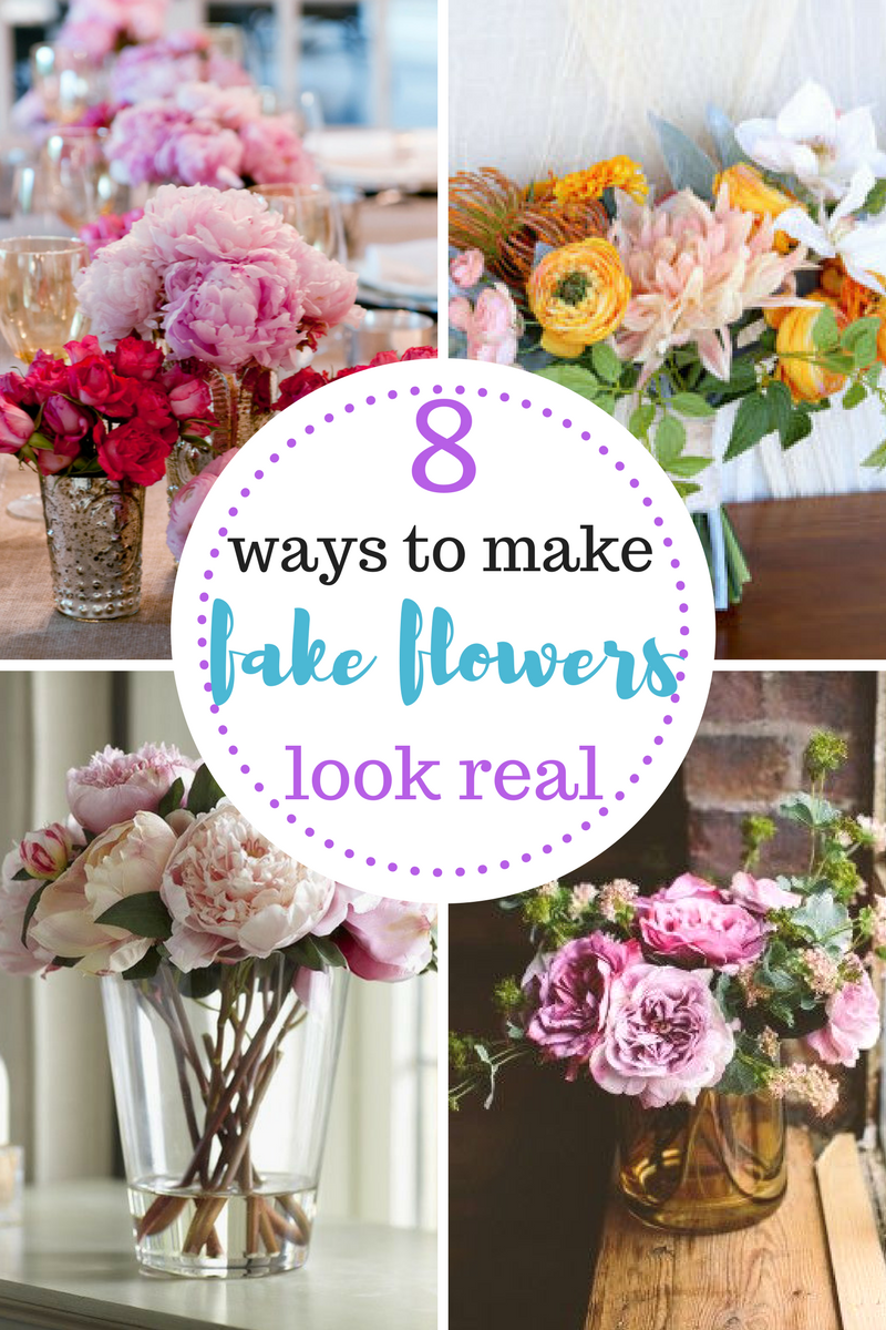 Tips for arranging artificial flowers