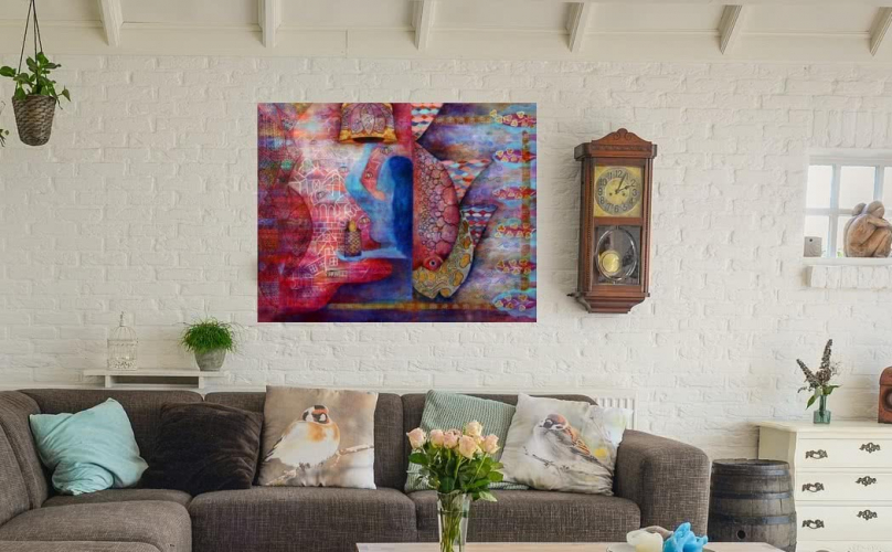 How To Choose Wall Art for Living Room - Wall Painting Ideas for .
