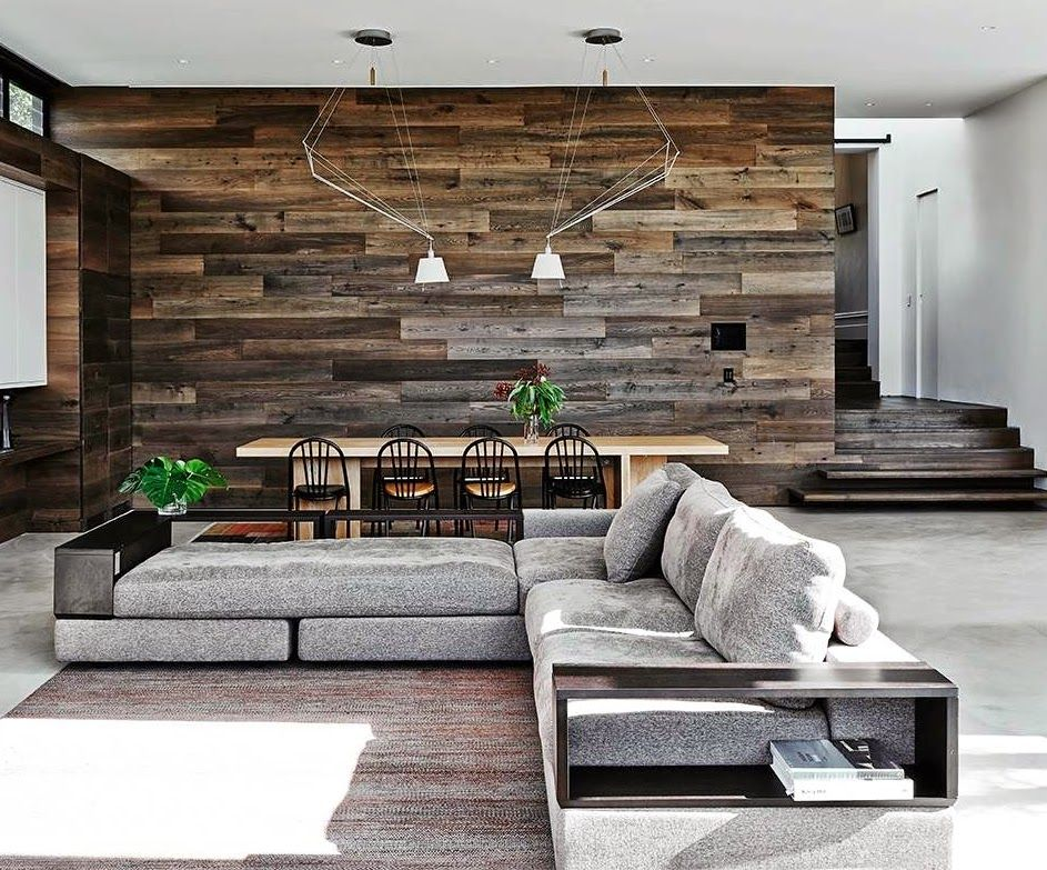 Trendy wooden wall ideas for the living   room