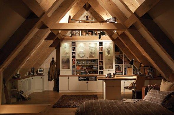 Turn Attic into Loft | warmth and cozy attic bedroom with .