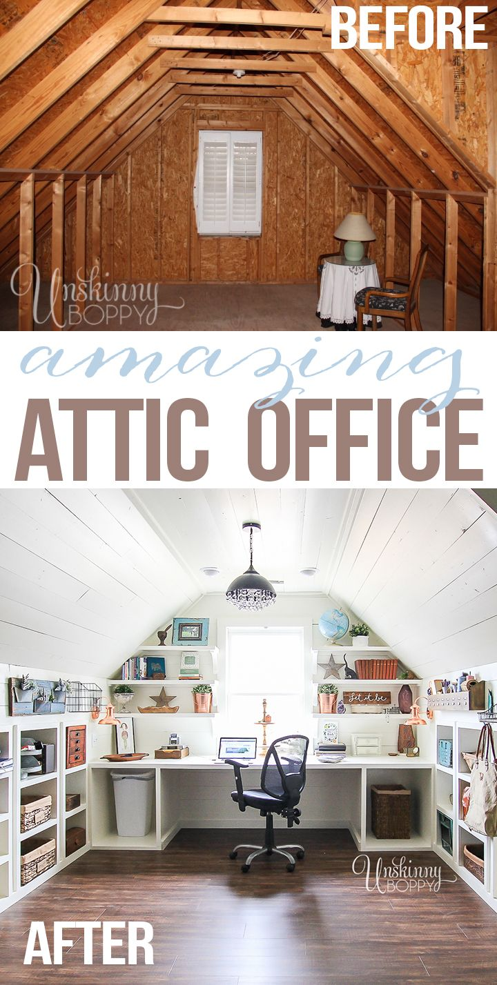 Turn your attic into a practical home   office