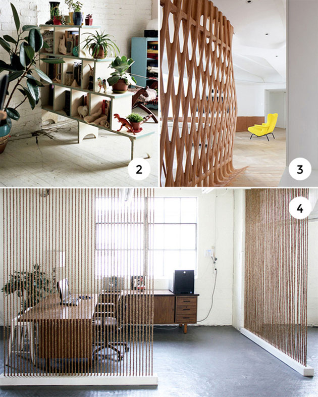 Unconventional ways to share an open   space in your home
