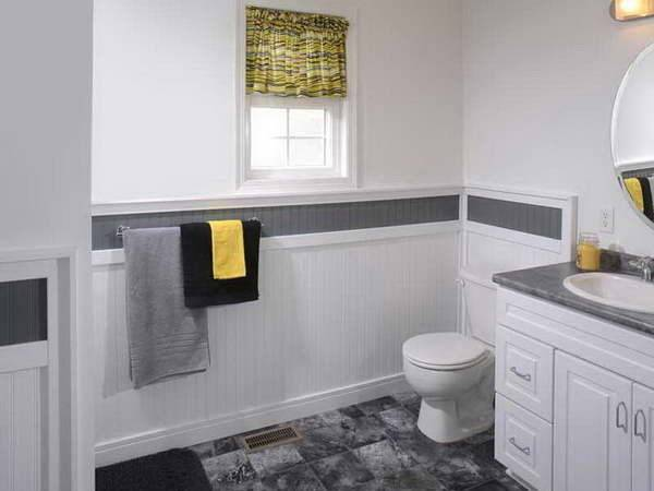 Awesome Bathroom Wainscoting Ideas Pictures - Gabe & Jenny Hom