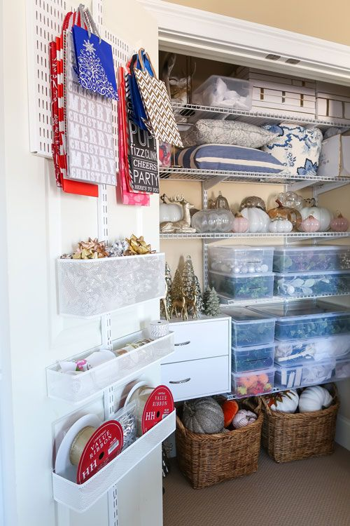 Create a Home Decor Closet and Gift Wrap Station of Your Dreams .