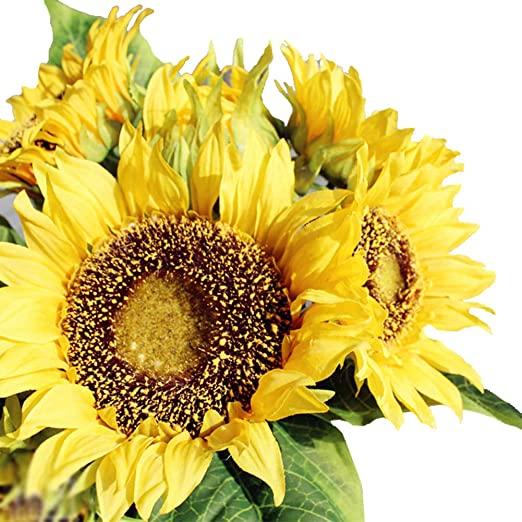 Amazon.com: Amzali Artificial Flowers Sunflowers Bouquet for Home .