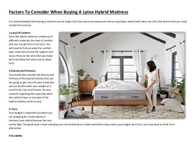 Factors to consider when buying a latex hybrid mattre