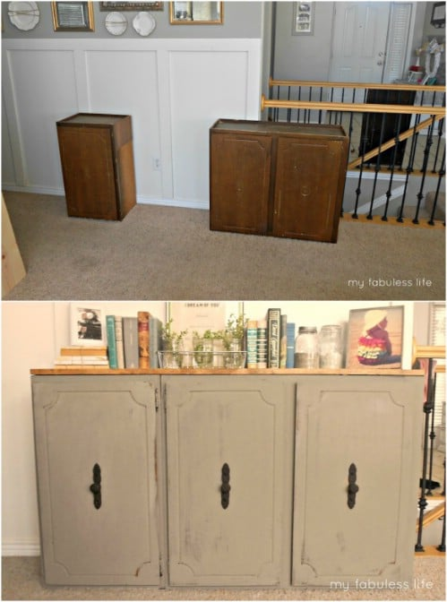 10 Fabulous Repurposing Ideas For Old Kitchen Cabinets - DIY & Craf