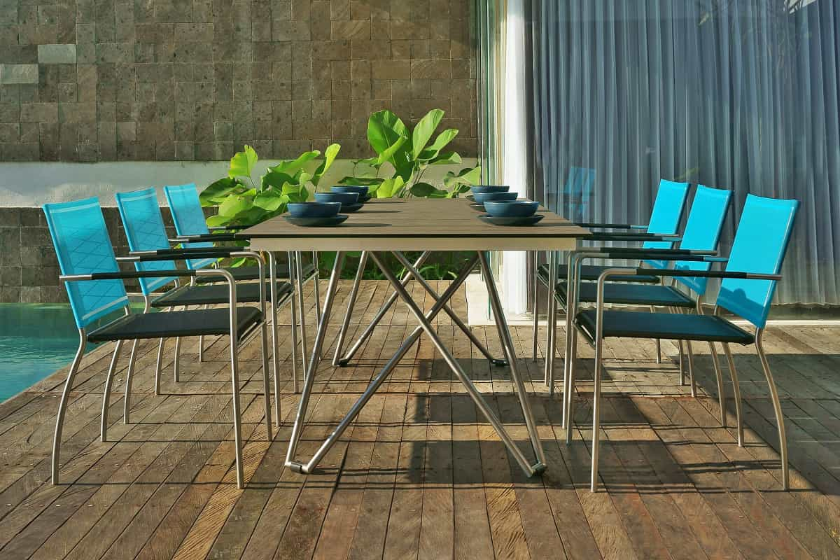 What type of luxurious looking garden   furniture is the most durable?