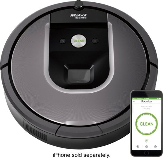 iRobot Roomba 960 Wi-Fi Connected Robot Vacuum Gray R960020 - Best B