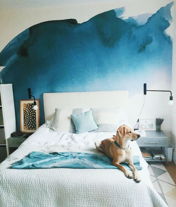10 Pretty Ways to Pull off Watercolor Walls | Paredes aquarela .