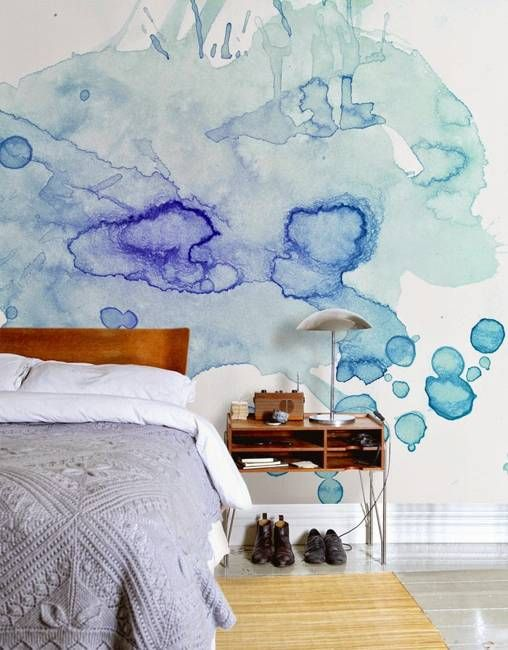 Which rooms go best with watercolor   wallpapers?