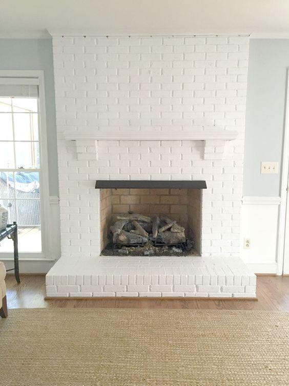30 Stunning White Brick Fireplace Ideas (Part 1) | White brick .