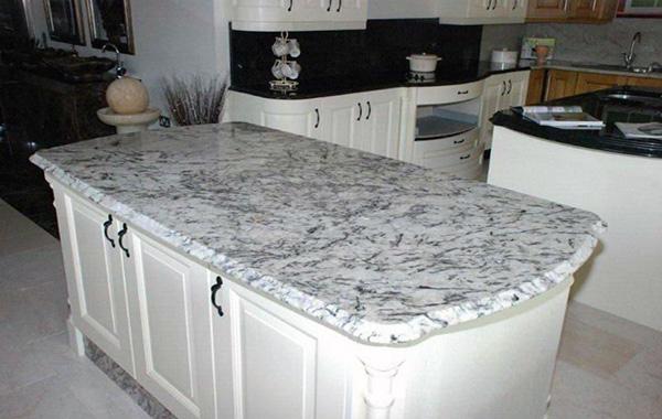 White Ice Granite | Granite kitchen island, White granite kitchen .