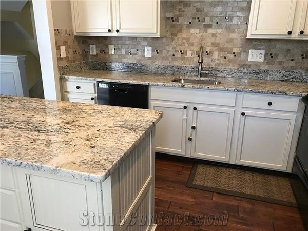 White ice granite countertops,   inspiration and tips for using them