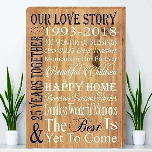 Amazon.com: 25 Year Anniversary Gift, Silver Anniversary Gift .