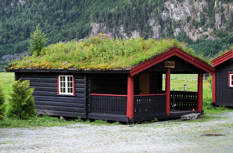 Beautiful Norwegian Homes Topped with Lush Green Roo