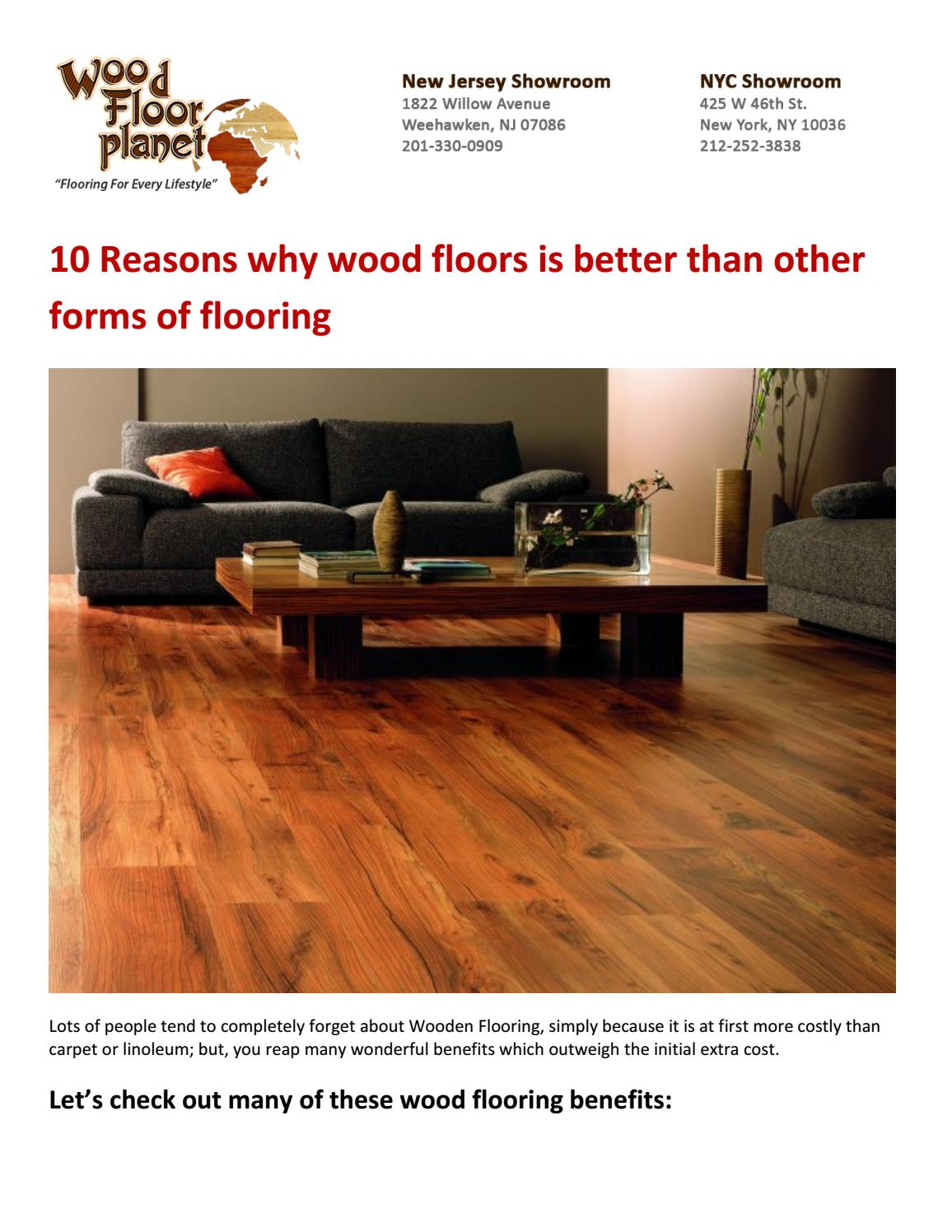 Why is wood floor better?