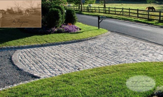 Cobble Stone Driveway Design in New York | Driveway landscaping .