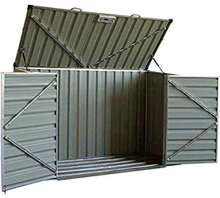 Amazon.com: Click-Well 7x3 Metal Storage Shed Kit. Low-Profile .