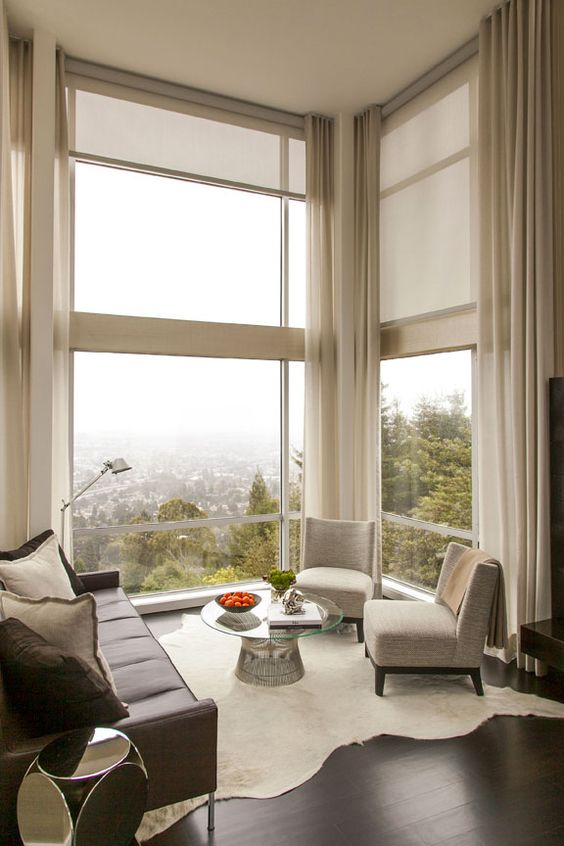 Astonishing Window Treatments for Large Windows in Living Rooms .